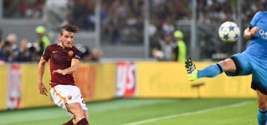 Gol di Florenzi Roma-Barcellona