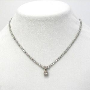 ダイヤモンドテニスネックレス