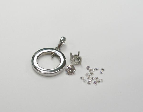 結婚指輪をペンダントにリフォーム 製作途中