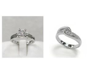 立爪ダイヤモンドリングのジュエリーリフォーム