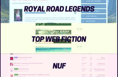 5 most popular tags for English web novels