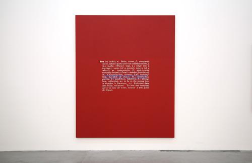 Stefan Brüggemann Untitled (Joke and Definition Painting), 2011 © Cortesía del artista y de Parra & Romero