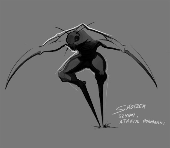 Jumper - A human-insect hybrid, he likes to jump all over the place and harass his prey with hit and run tactics.