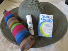 Title: Rash Protection Caption: Always wear a wide-brimmed hat. Apply sunscreen. Throw some sun guard in the laundry to give your clothes UV protection. Don't be embarrassed to use an umbrella, rain or shine. Photographer: V.M.
