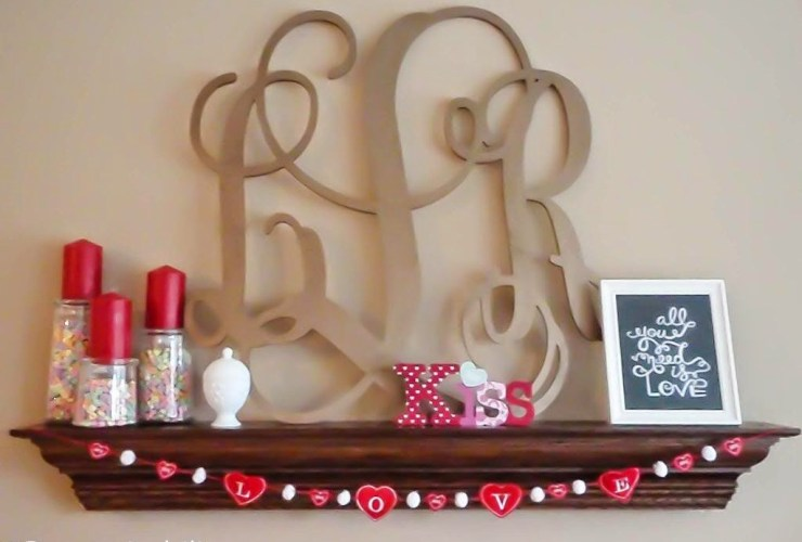 DIY Love Heart Embroidery Valentine's Garland