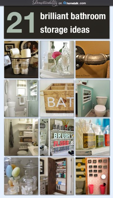 21 Brilliant Bathroom Storage Ideas with Hometalk and Domesticability