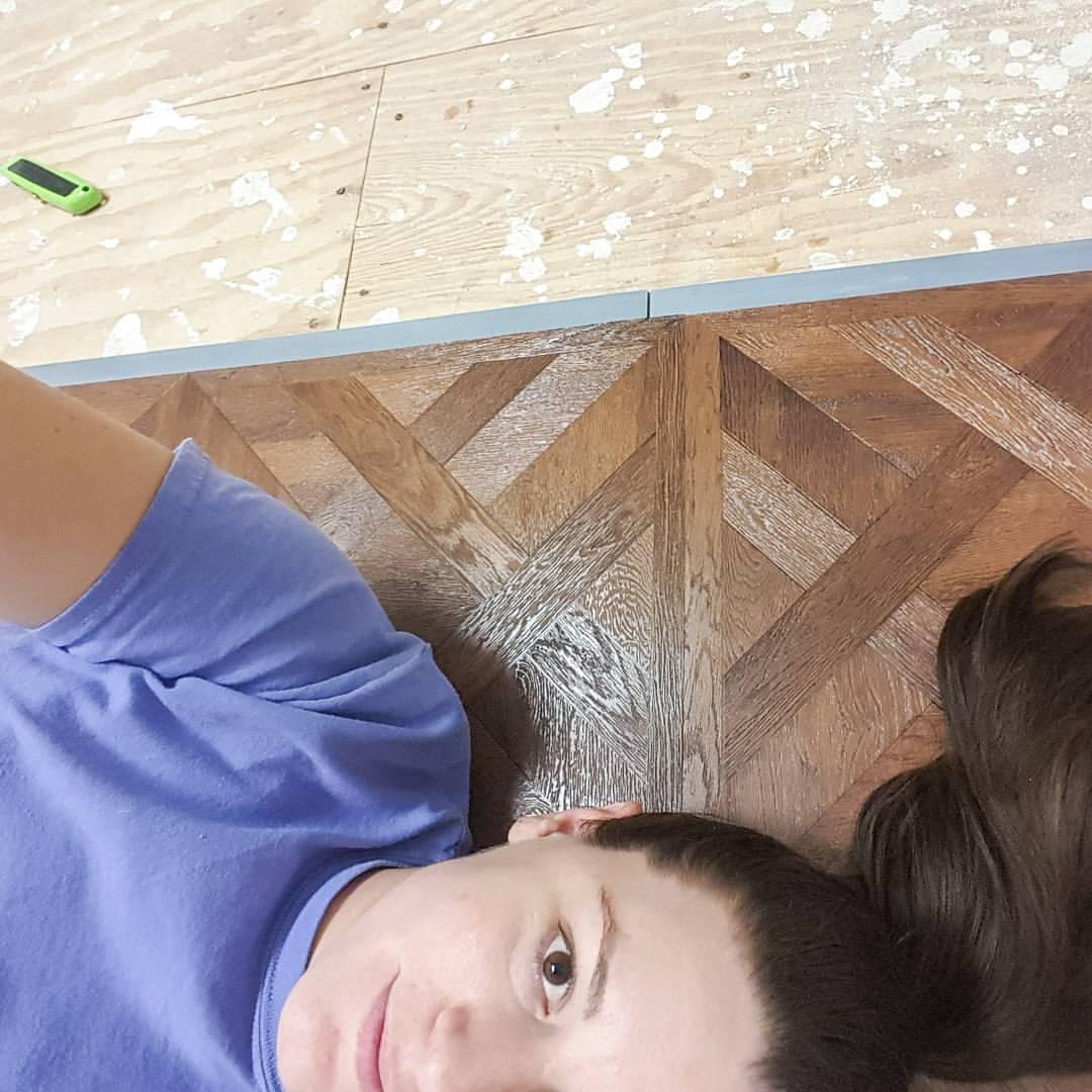 Installing peel and stick Chateau Parquet Dark Allure Resilient Vinyl Tile Flooring