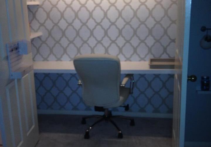 DIY Office Closet Desk, An Organized Cloffice Space