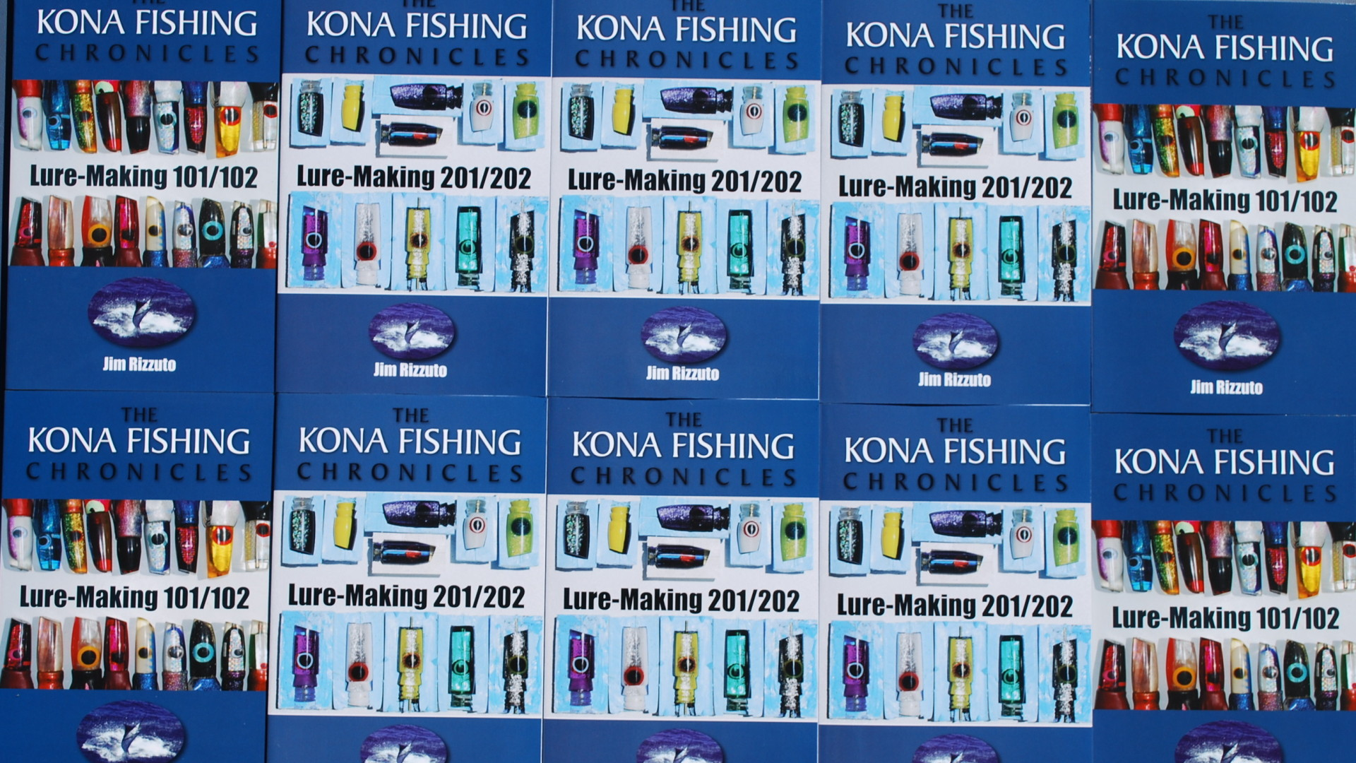 Lure-Making 101 and 201. Kona Fishing Chronicles books by Jim Rizzuto