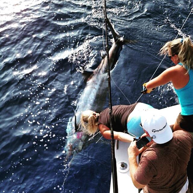 Kona Gal Power catches tricky marlin