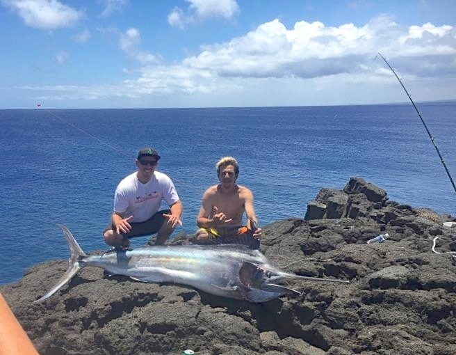 Marlin from shore on the Big Island