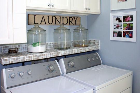 Laundry Room Storage - Glass Jars