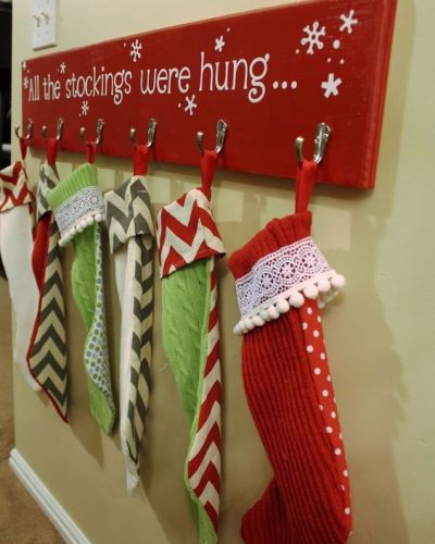 DIY Holiday Stocking Hangers