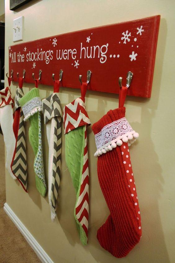 DIY Holiday Stocking Hangers