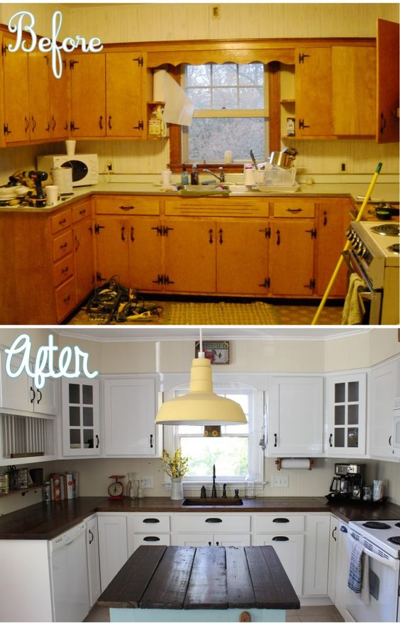 Complete Kitchen Makeover Before and After