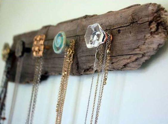 DIY Home Decor - Driftwood Necklace Holder
