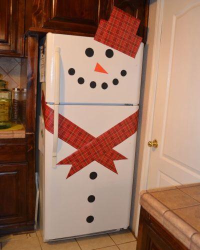 Snowman Refrigerator Decor