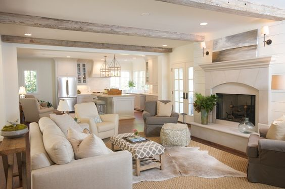 Living Area with a Neutral Palette