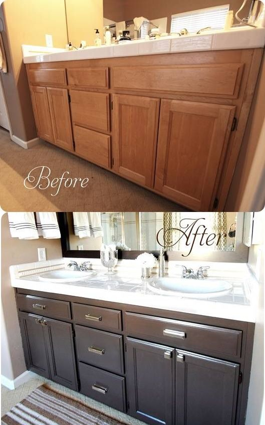 updating bathroom cabinets easy diy bathroom makeover ideas lures and lace 27728