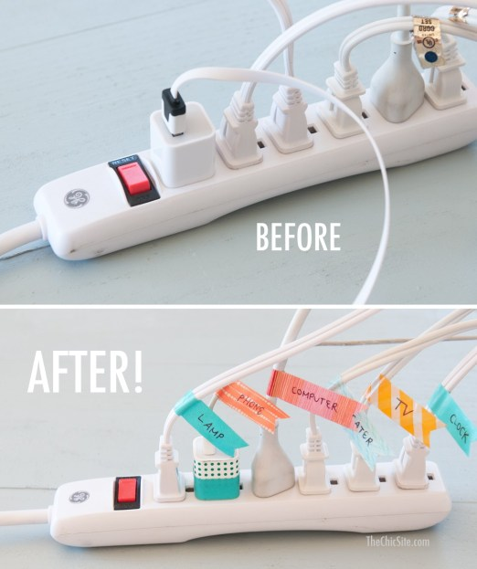 Home-Office-Organization-Washi-Tape-Cords