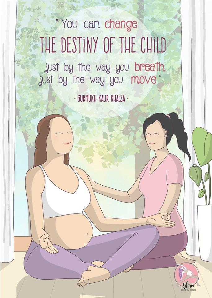 cartel embarazada doula