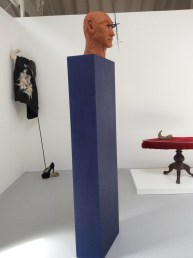Dionysus, terracotta, forged steel, feather