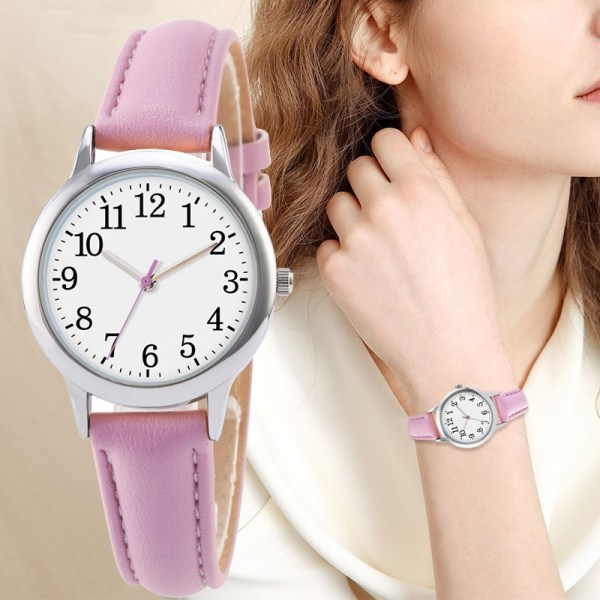 Arabic Numbers Lady ELegant Style Women Watch Candy Color Straps Leather 5 | Online In Pakistan