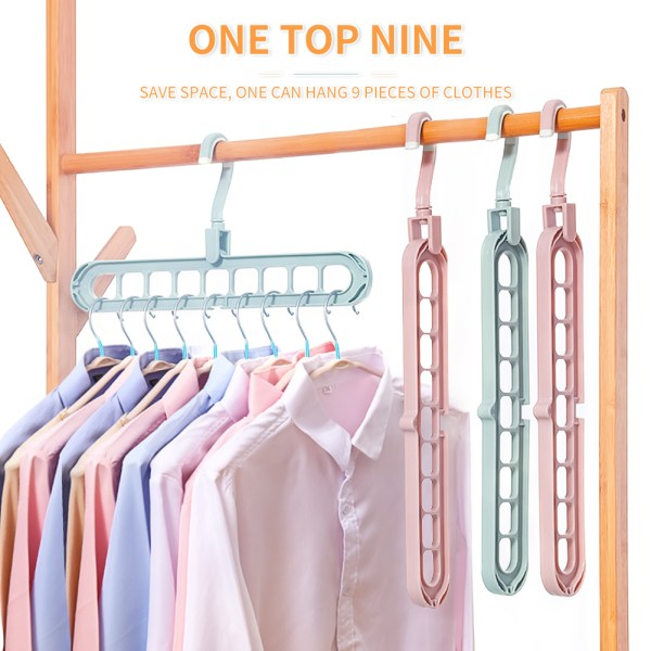 9 Hole Clothes Hanger Multi port Support Circle Clothes Dry | Online In Pakistan