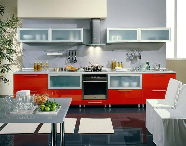 50 Plus 25 Contemporary Kitchen Design Ideas, Red Kitchen