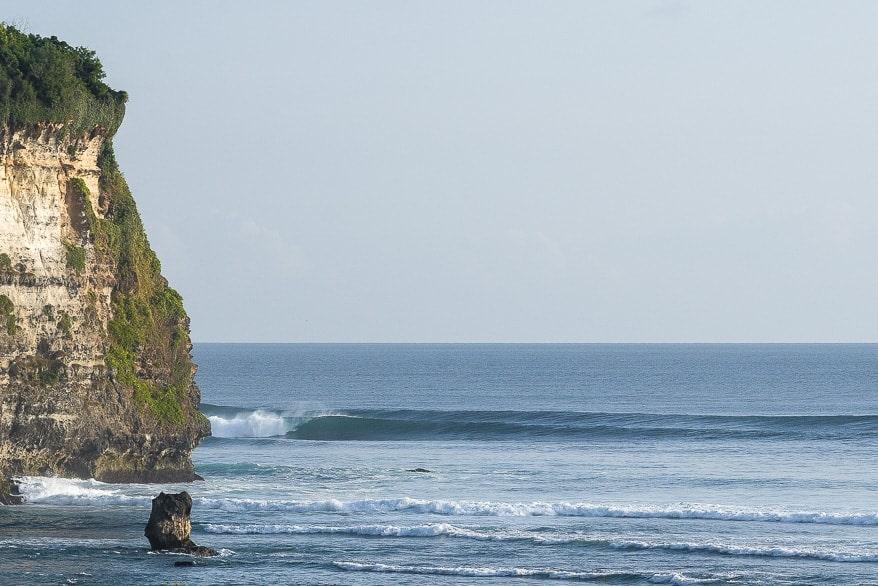 surfing uluwatu temples