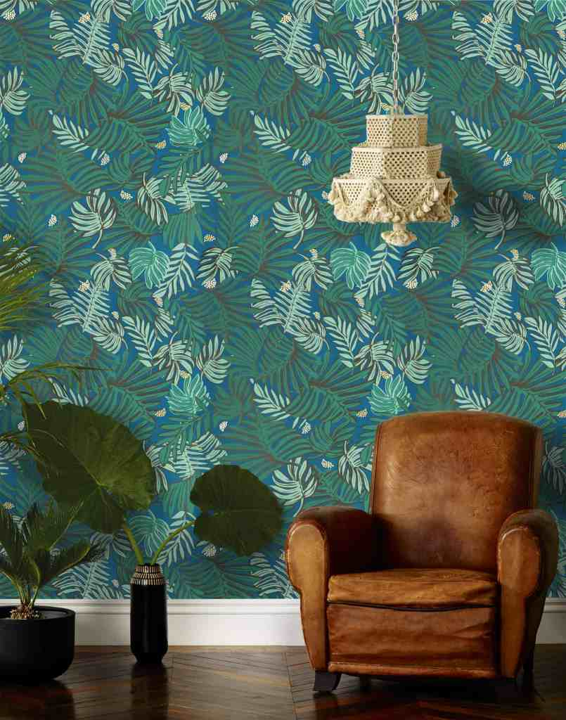 Palm Leaf Print Wallpaper | Justina Blakeney | Hygge & West