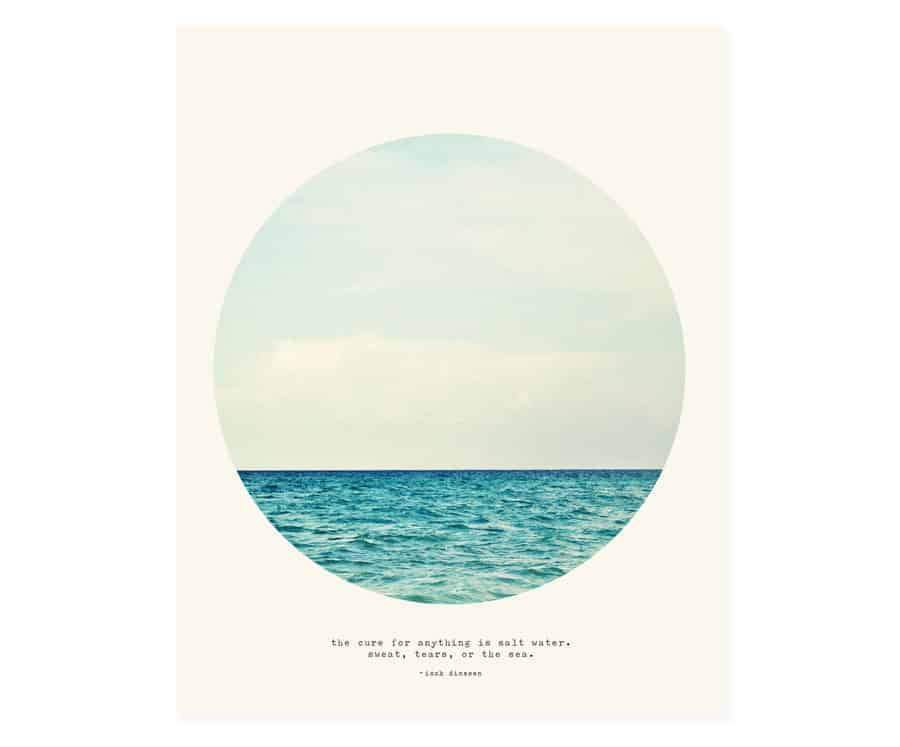 salt water cure stretched canvas / beach house style