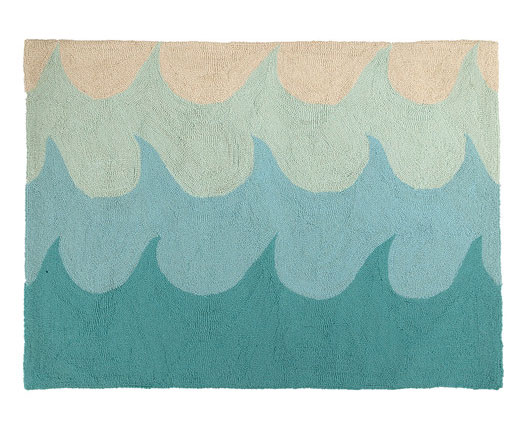 Waves Hook Area Rug / beach house style