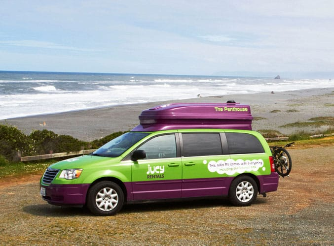 JUCY RV Rentals USA / 6 Camper Van Rentals for the Ultimate California Coast Road Trip