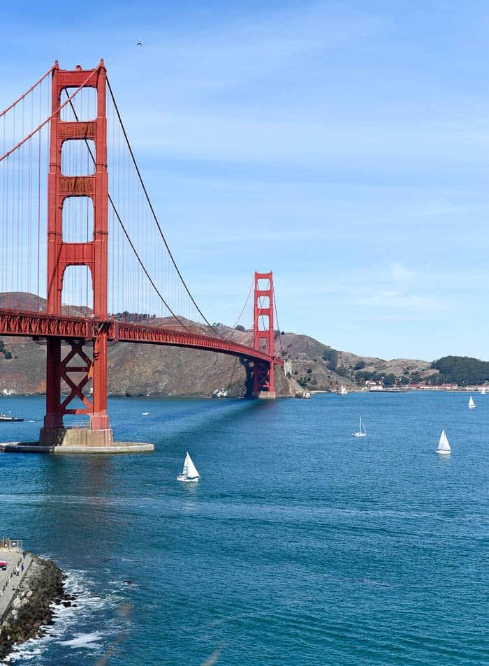 Golden Gate Bridge / RTW SURF TRIP 02 / FROM ENCINITAS TO SAN FRANCISCO