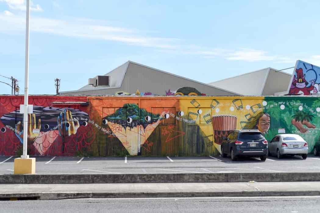 Street art in Kaka' ako Honolulu, Hawaii