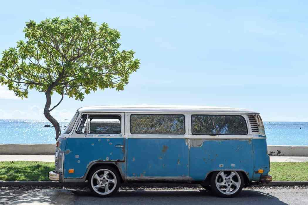 VW bus on the beach