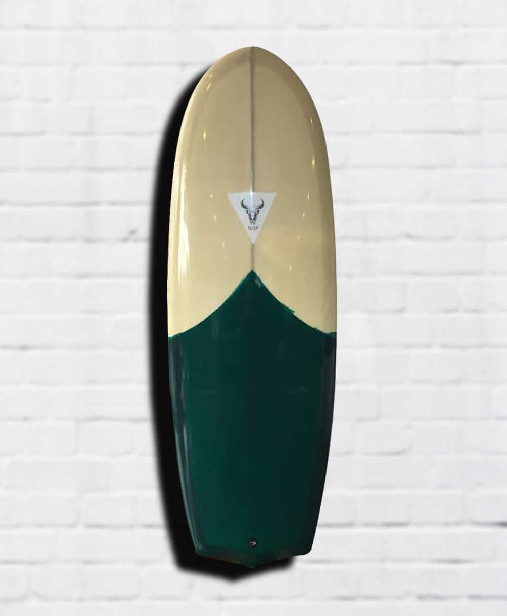 surfboard gold green shortboard folklore