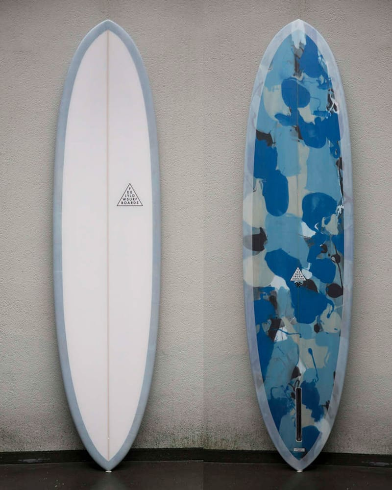 surfboard longboard blue