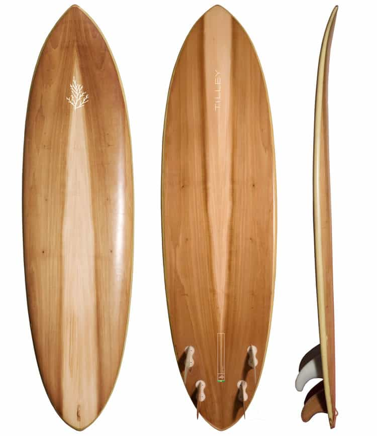 surfboard wood tilly fish
