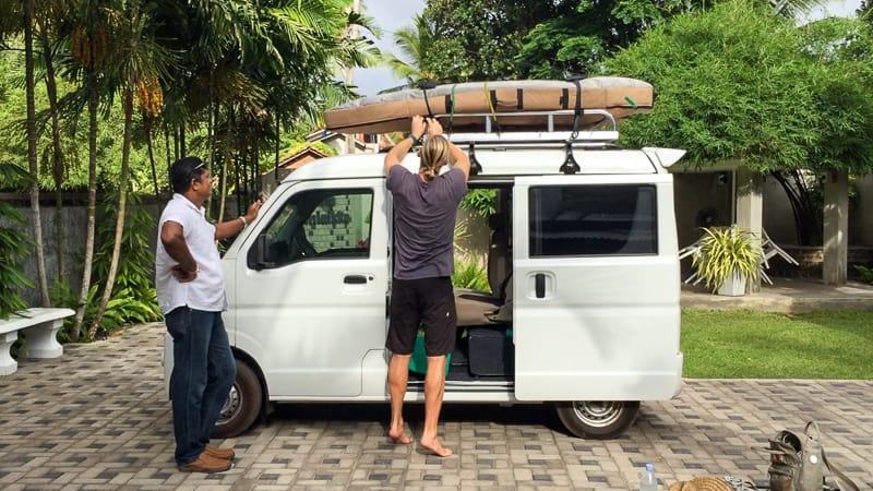 surfing sri lanka van hire