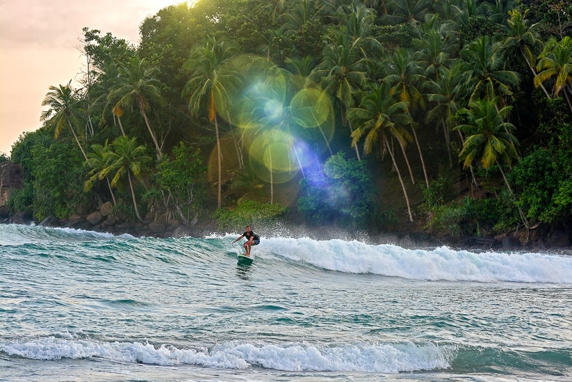 surfing sri lanka mirissa