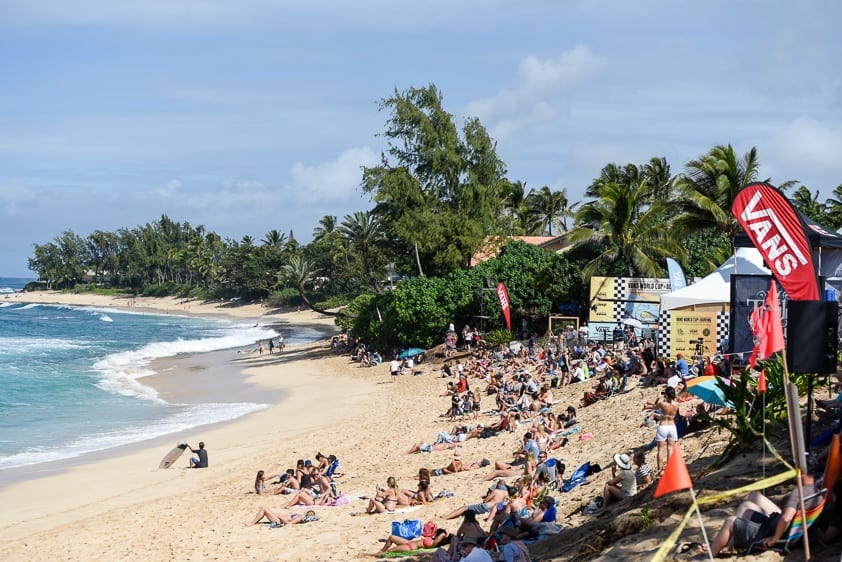 north shore surf competition vans world cup of surfing