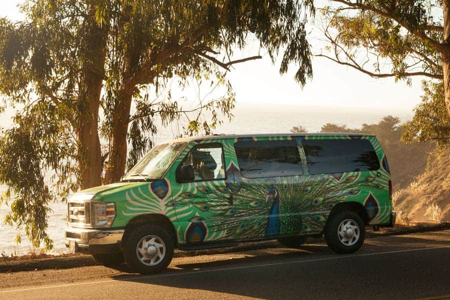highway 1 road trip campervan