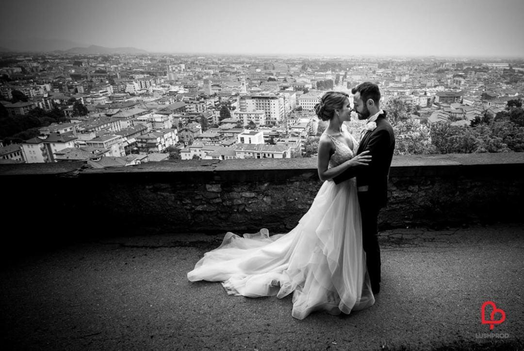 Fotografo matrimonio elegante Bergamo