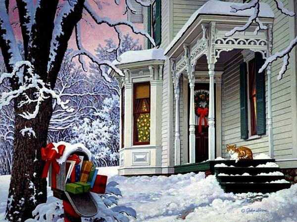 Paysages De Neige Noel En Peinture Page 4