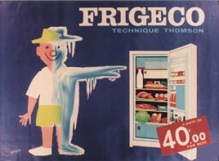 publicité électroménager frigo THOMSON