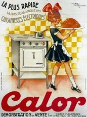 publicité électroménager cuisinière CALOR