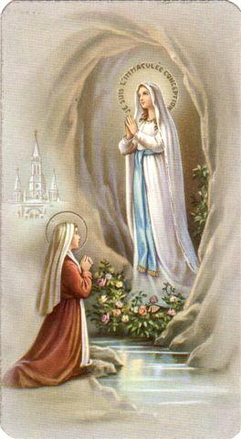 Images pieuses (Notre Dame de Lourdes)