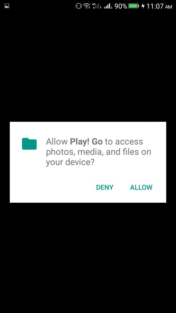 Screenshot of Play Go App